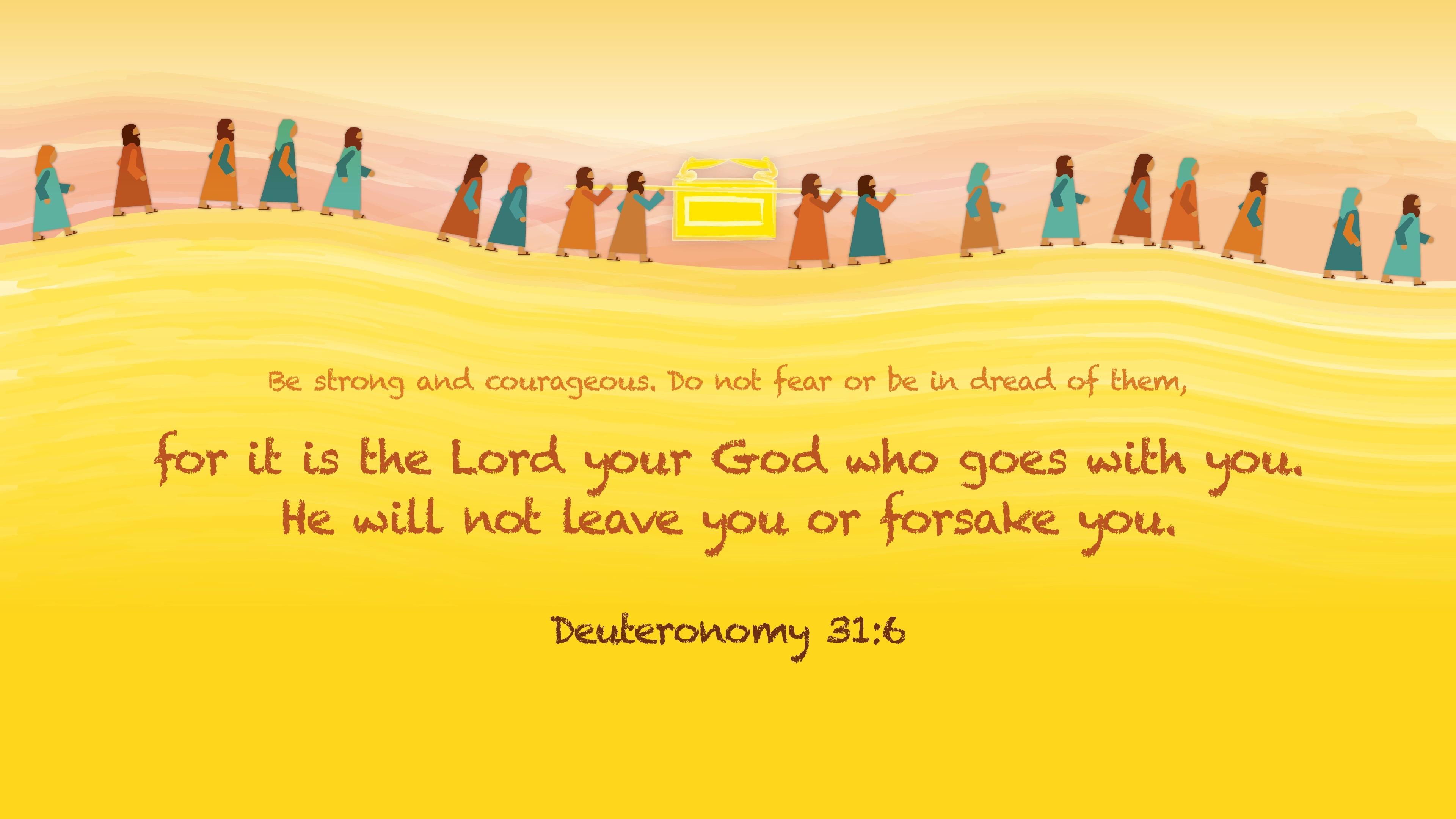 Deuteronomy 31:6 Graphic