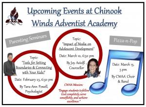 Upcoming events at CWAA