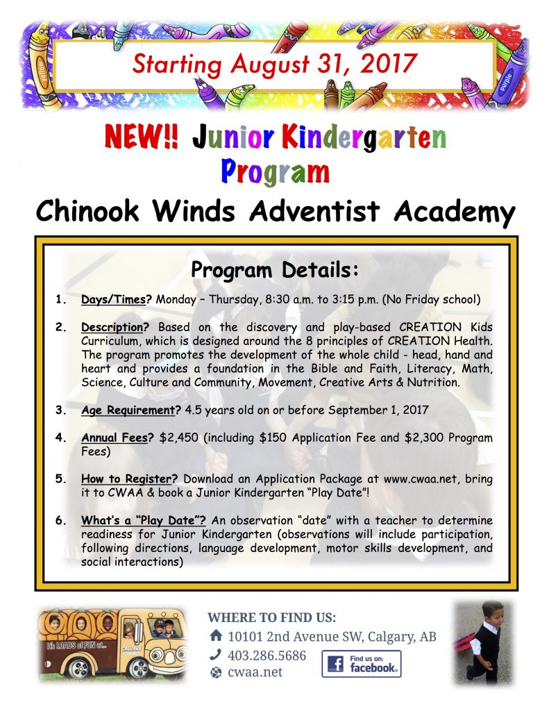 Junior Kindergarten Flyer